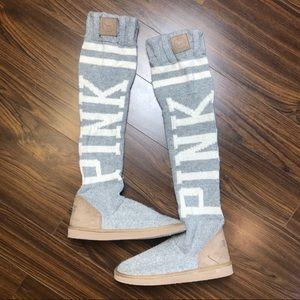 Victoria's Secret PINK Mukluks knee high slippers